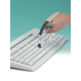 Adaptador para teclar e virar páginas