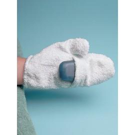 Luva para banho com porta-sabonete