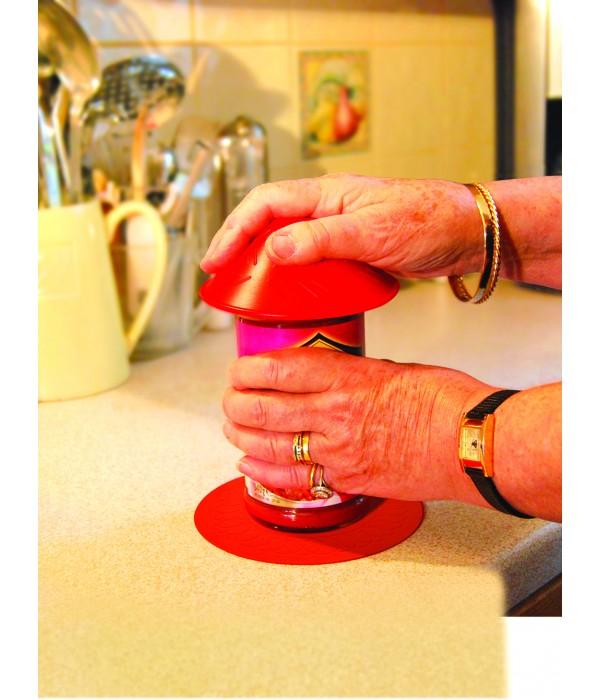 Abridor de potes em silicone - vermelho