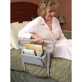 Barra unilateral para cama com bolso porta objetos