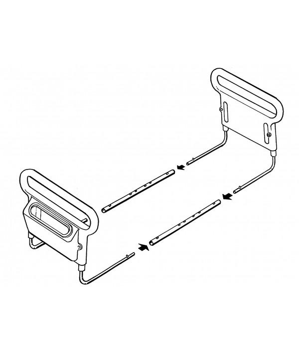 Barra bilateral para cama com bolso porta objetos